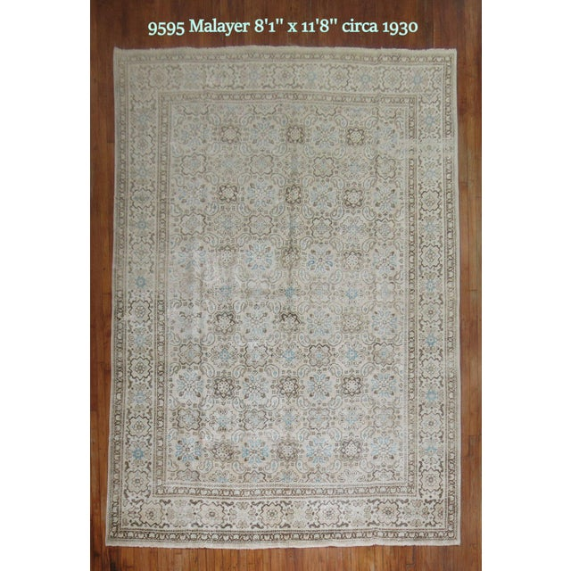 Vintage Shabby Chic Persian Malayer Rug, 8'1'' x 11'8'' - Image 2 of 9