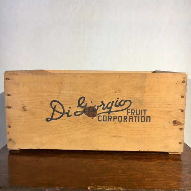 1950s 1950s Blue Flag Fruit Crate For Sale - Image 5 of 8