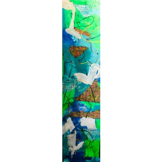 Sailing #7 Contemporary Mixed Media Painting For Sale