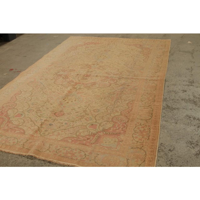 Traditional Antique Hand Knotted Pink Floral Sivas Rug - 6' x 9' For Sale - Image 3 of 6