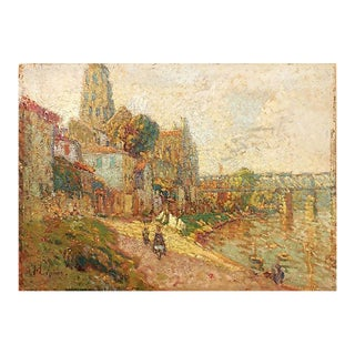 'Early Impressionist River Landscape' Attributed to Stanislas Lepine For Sale