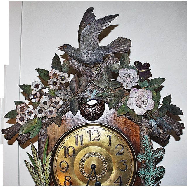 Black Forest Grandfather Tall-Case Clock For Sale - Image 4 of 13