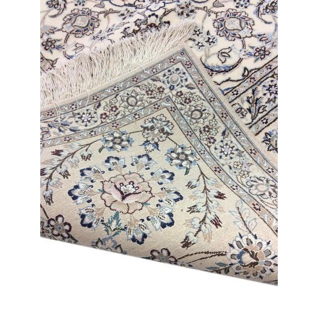 "Pasargad Persian Nain Silk & Wool Rug - 8' 8"" X 12' 1"" For Sale - Image 4 of 5"