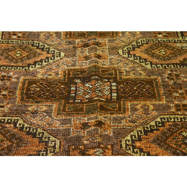 Traditional 1930s Traditional Turkish Red Wool Oushak Rug - 4'10''x10'4'' For Sale - Image 3 of 7