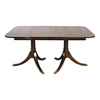 Duncan Phyfe Style Mahogany Banded Dining Table