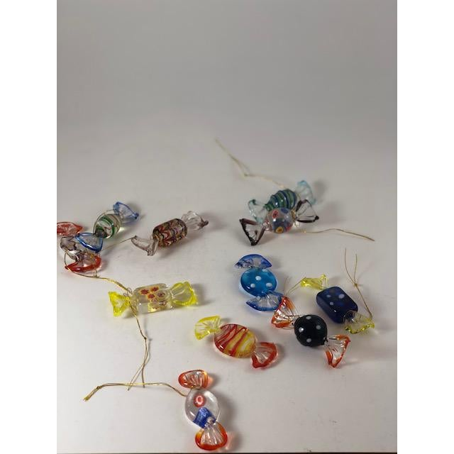 Mid 20th Century Vintage Italian Mouthblown Murano Candy Glass Figurines- Set of 18 For Sale - Image 5 of 7