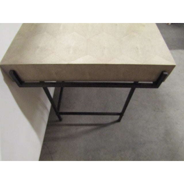 Lillian August Contemporary Lillian August Simone Shagreen and Metal Desk For Sale - Image 4 of 9