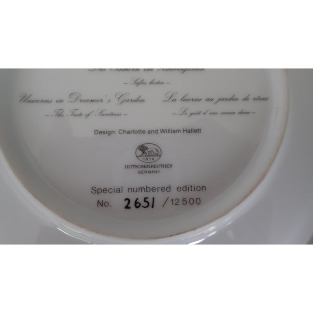 Hutschenreuther Fine German China Wall Plate For Sale In New York - Image 6 of 7