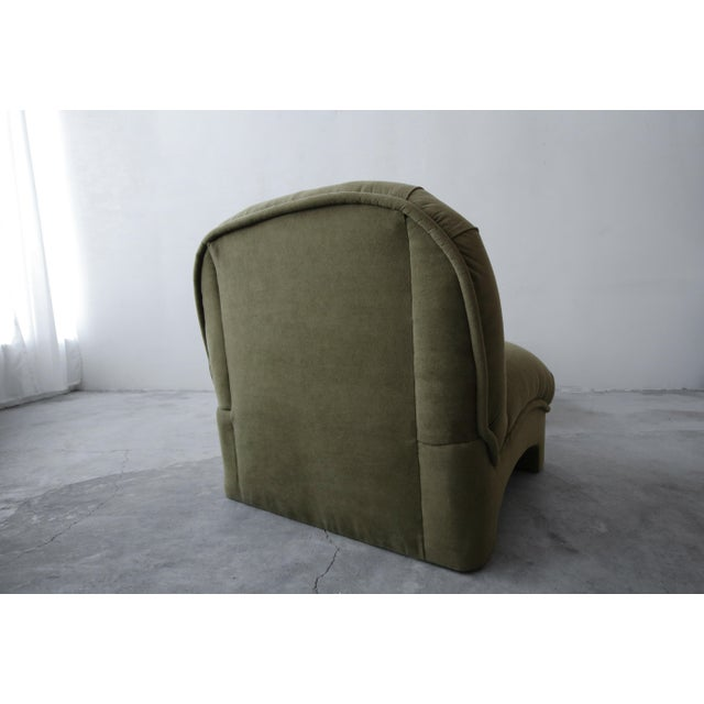 Textile Post Modern Slipper Lounge Chair and Ottoman For Sale - Image 7 of 8