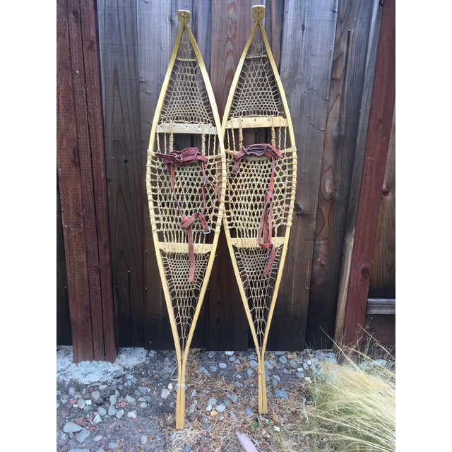 Vintage Ojibwe Snow Shoes - A Pair - Image 3 of 7
