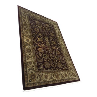 Traditional Style Ethan Allen Lahore Burgundy Wool Rug