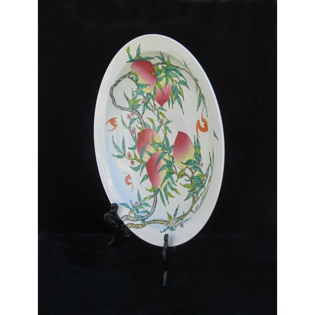 Chinese Fortune Peach Display Plate - Image 3 of 5