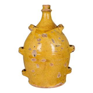 19th Century French Terracotta Pottery Jug For Sale