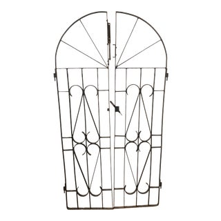 Antique English Wrought Iron Gates - a Pair For Sale