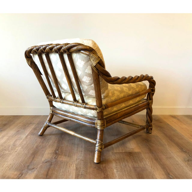 Vintage McGuire Braided Rattan Chair For Sale In Seattle - Image 6 of 13