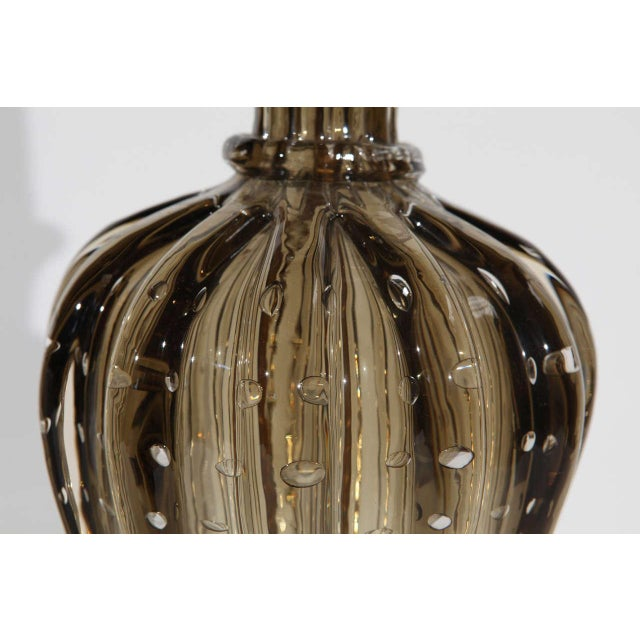 Glass Single Murano Glass Lamp by Seguso For Sale - Image 7 of 10