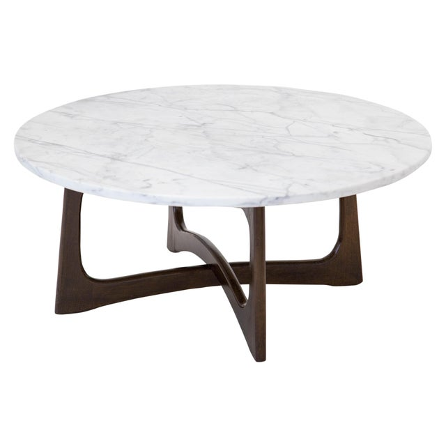 Brown Adrian Pearsall Marble Top Coffee Table For Sale - Image 8 of 9