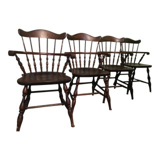 1960s Nichols & Stone Kitchen Dining Chairs - Set of 4 For Sale