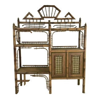 19th Century Aesthetic Movement Tiger Bamboo Bookcase For Sale