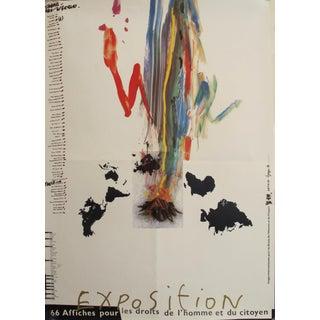 1989 Original Poster for Artis 89's Images Internationales Pour Les Droits De l'Homme Et Du Citoyen - Artist List For Sale