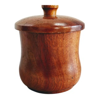 Mid Century Modern Savinelli Wood Tea Caddy Box For Sale