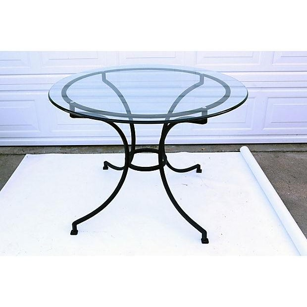 Vintage Round Iron Dining Table - Image 3 of 3