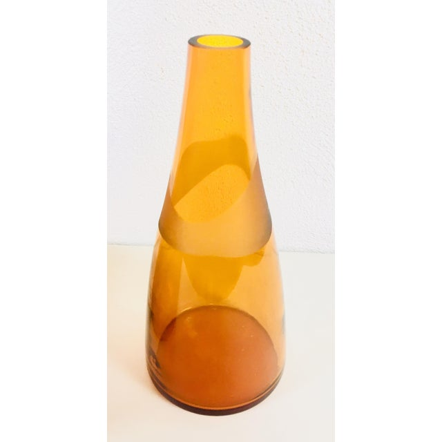 Mid-Century Modern 1962 Blenko Monumental Jar With Stopper For Sale - Image 3 of 10