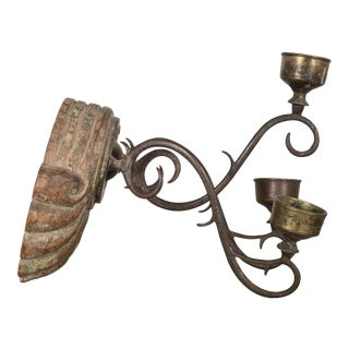 19th C. Wall Sconce Candleholders C.1800s For Sale