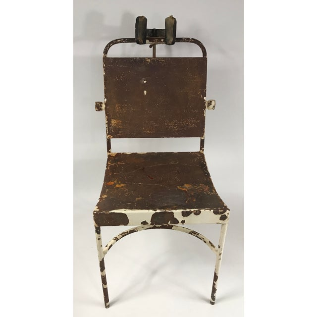 Industrial Antique Medical Exam Chair For Sale - Image 3 of 6