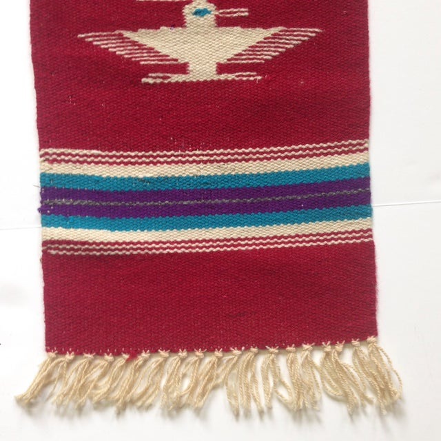 Handwoven Navajo Style Wall Hanging Rug - Image 3 of 11