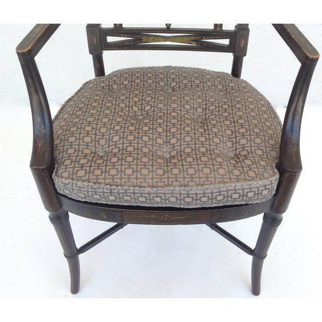 Maison Jansen Hand-Painted Regency Chair - Image 9 of 11