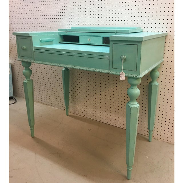 Seafoam Green Antique Desk - Image 2 of 6