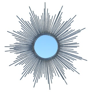 Silver Leaf Starburst Mirror For Sale