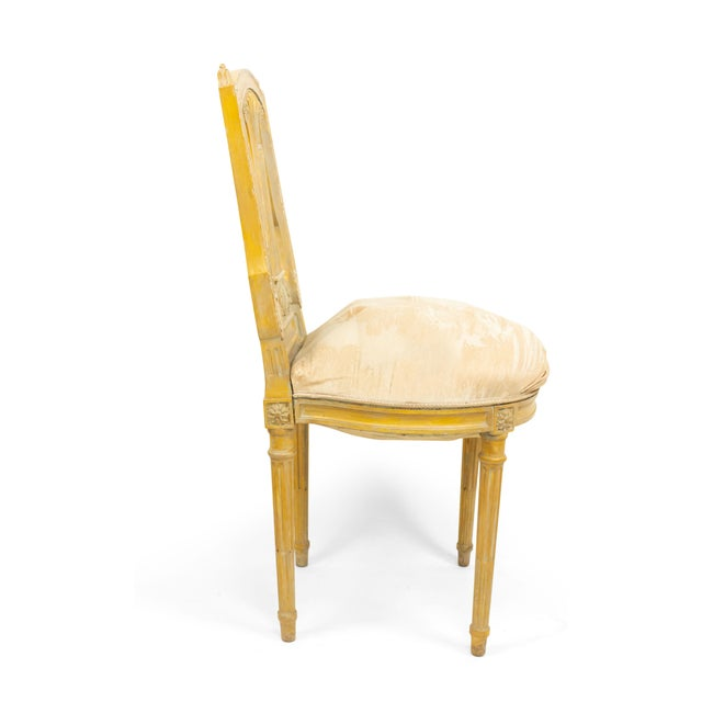 French Louis XVI Lyre Side Chairs For Sale - Image 9 of 11