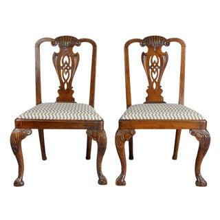 Pair of George II Walnut Side Chairs