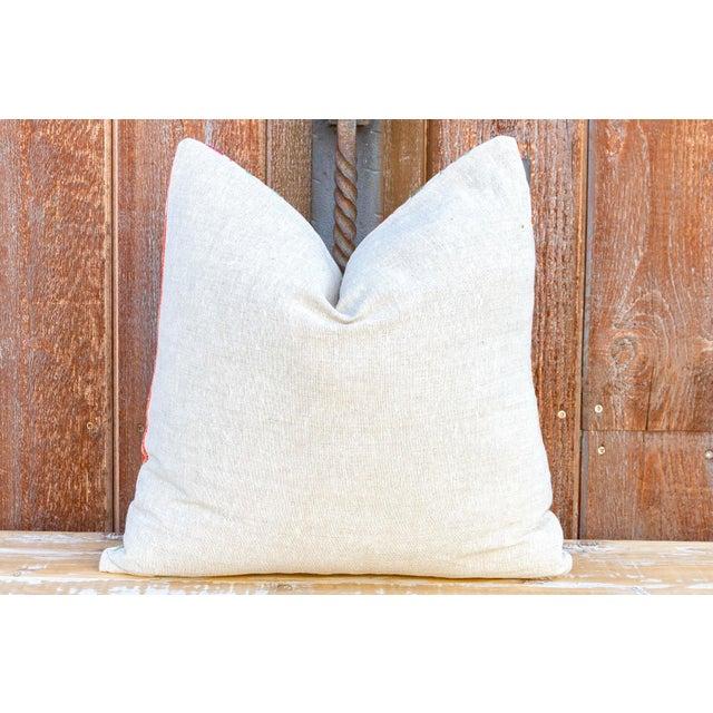 White Pomegranate & Green Ivy Uzbek Suzani Pillow For Sale - Image 8 of 10