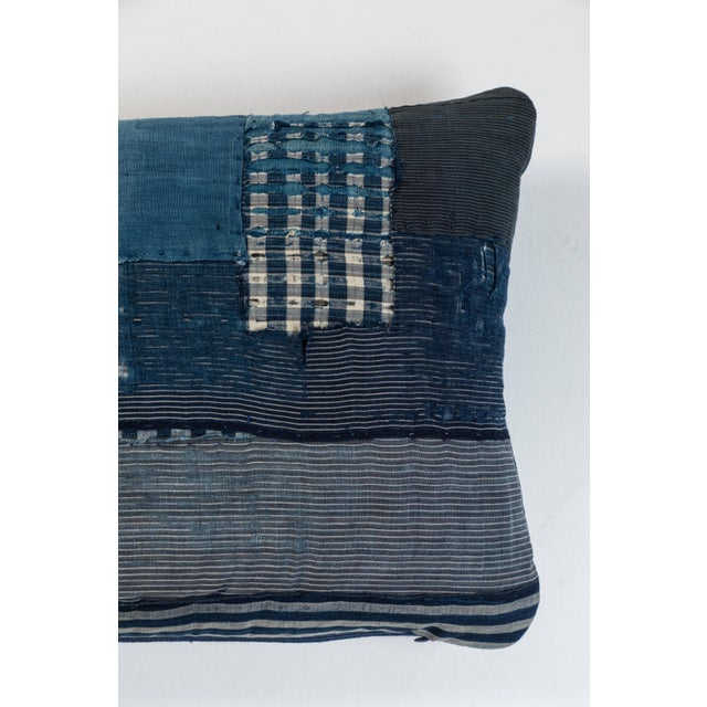 Asian Antique Japanese Boro Textile Pillow For Sale - Image 3 of 5