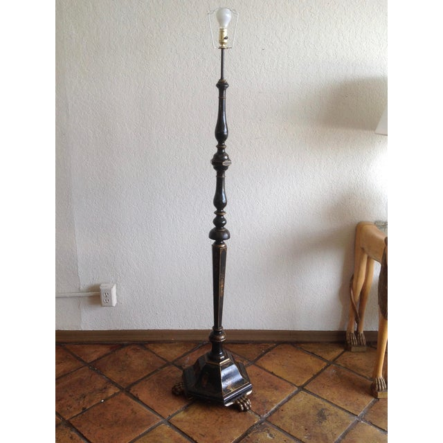 Chinoiserie Floor Lamp With Custom Shade For Sale - Image 9 of 13
