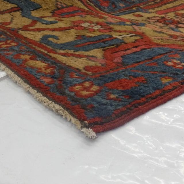 "1920s Leon Banilivi Antique Persian Serapi Carpet - 9"" X 11'7"" For Sale - Image 5 of 6"