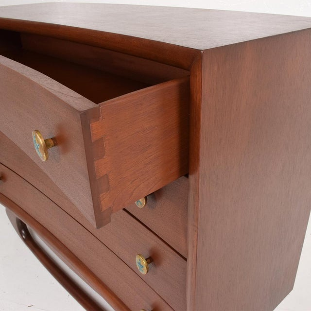 For your consideration, a Mid Century Mexican Modernist Chest of Drawers Dresser Frank Kyle Pepe Mendoza. Constructed with...