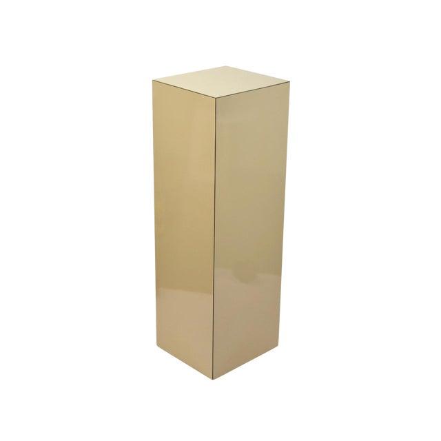 Vintage Modern Beige Pedestal Sculpture Plant Stand For Sale