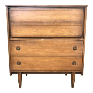 1960s Mid Century Highboy Dresser by Hooker For Sale