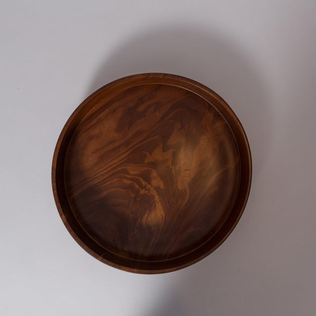 Hand Carved Corteza Lingnum Vitae Cylindrical Bowl For Sale - Image 5 of 9