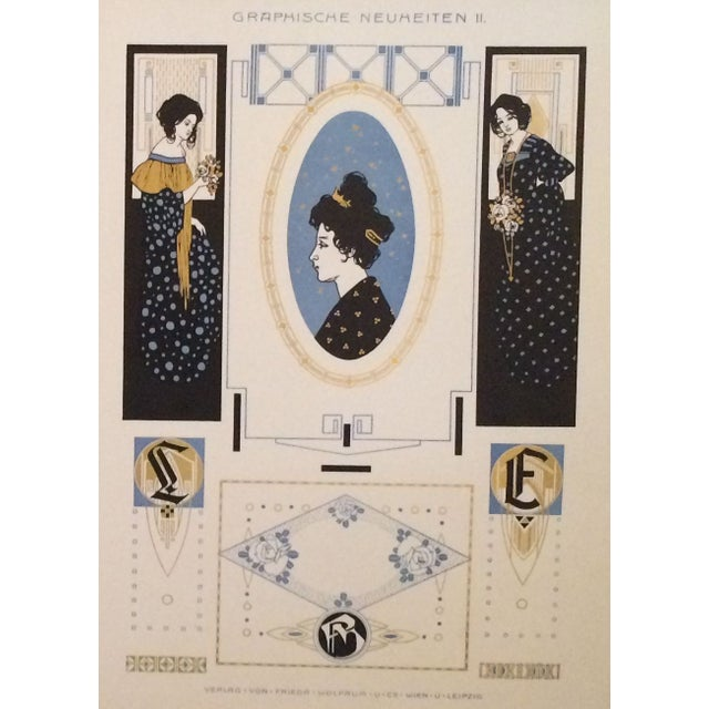 Traditional German Decorator Prints C1900 Angels & Ladies S/2 For Sale - Image 3 of 4