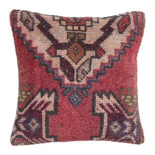 Vintage Boho Turkish Rug Pillow Cover For Sale