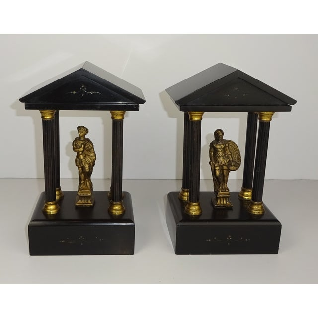 Belgian Miniature Marble & Bronze Temples - A Pair - Image 3 of 11