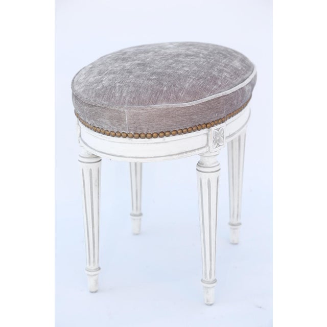Oval Louis XVI Stool For Sale In West Palm - Image 6 of 7