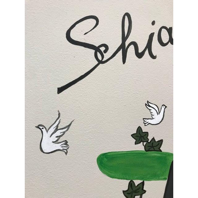 Art Deco Schiaparelli Fragrance Advertising Painting Peynet Style For Sale - Image 3 of 6