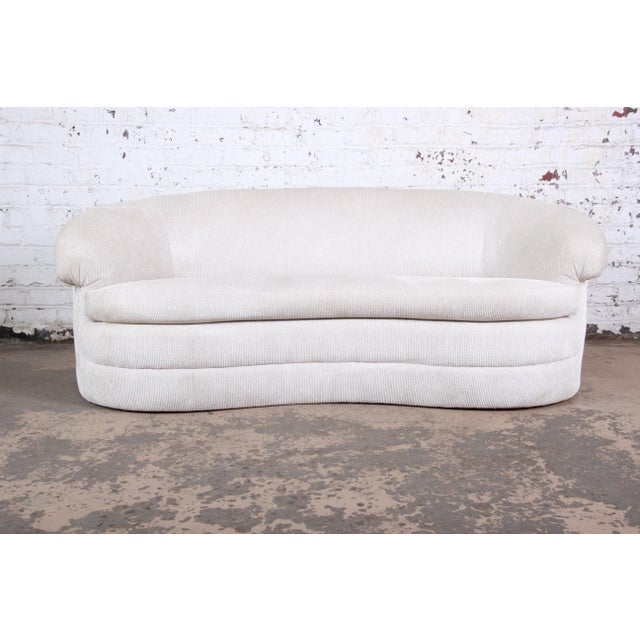 Mid-Century Kidney-Shaped Sofa For Sale - Image 9 of 9