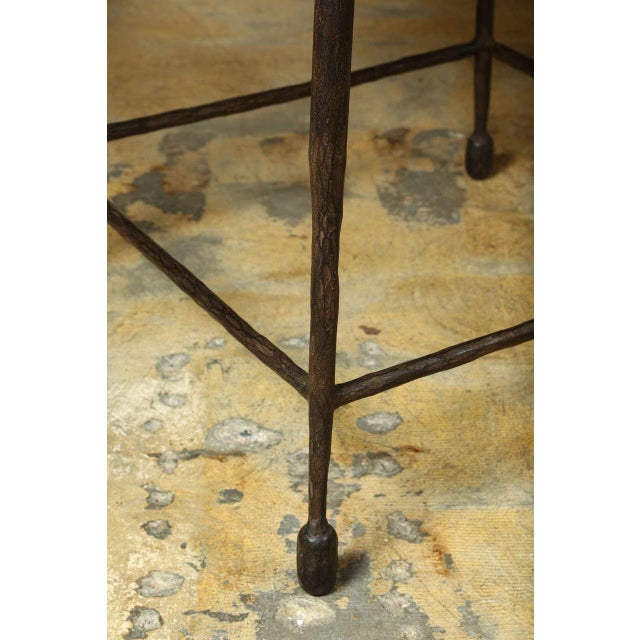 Contemporary Paul Marra Iron and Douglas Fir Inset Side Table For Sale - Image 3 of 8